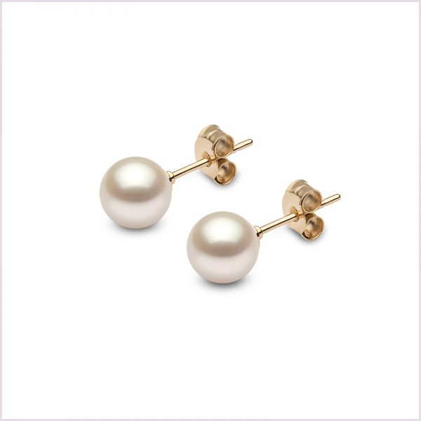 Euro Pearls Round Freshwater Pearl Studs