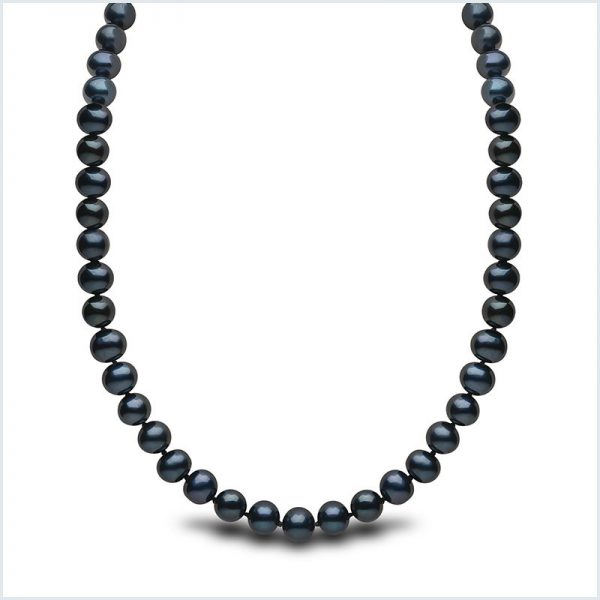 Euro Pearls Black Freshwater Pearl 16 inch Necklace