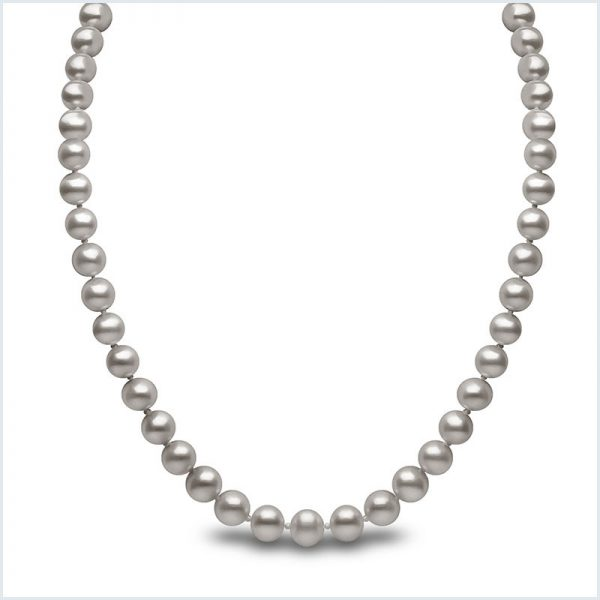 Euro Pearls Grey Freshwater Pearl Necklace