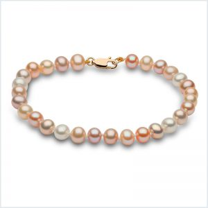Euro Pearls Natural Multicolour Freshwater Pearl Bracelet