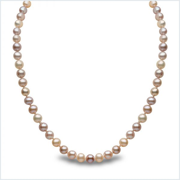 Euro Pearls Natural Multicolour Freshwater Pearl Necklace