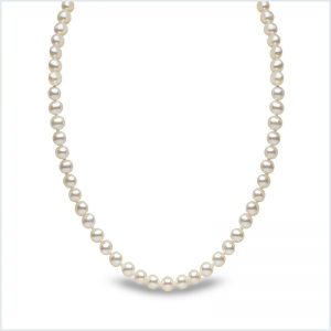 Euro Pearls White Freshwater Pearl 16 inch Necklace