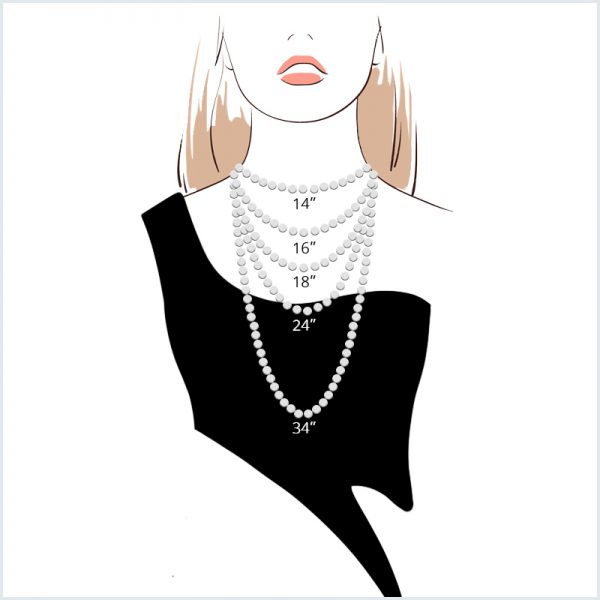 Euro Pearls Necklace Length Guide